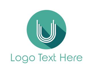 Turquoise - Mint U Circle logo design