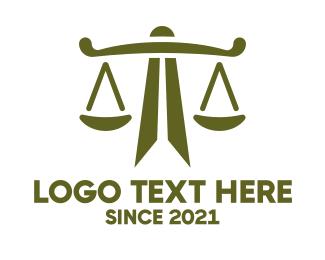Justice - Modern Geometric Justice logo design