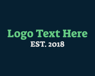 Simple - Strong Serif Text logo design