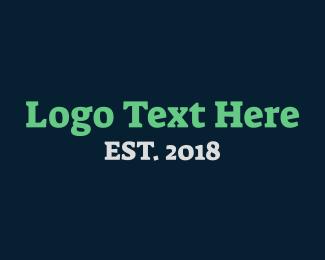 Typography - Strong Serif Text Wordmark logo design