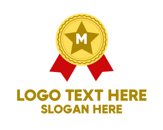 Recognition - Award Lettermark logo design
