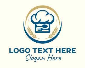 Utensils - Culinary Cooking Chef Hat logo design