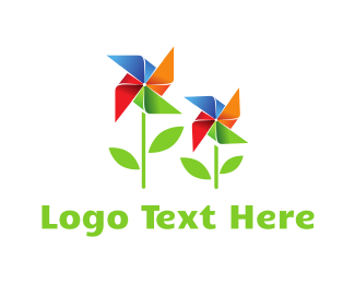 Turbine - Wind Garden logo design