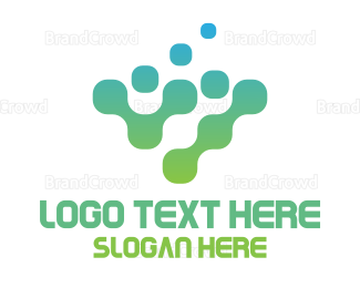 Hacker - Digital Gradient logo design