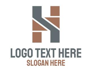 Recruiter - Geometric  Masculine Letter H logo design
