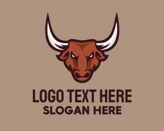 Playoffs - Bull Mascot logo design