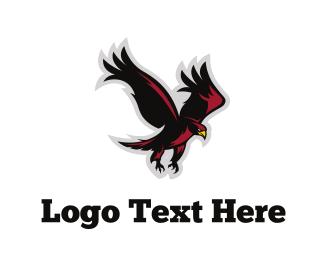 Baseball - Red Eagle logo design