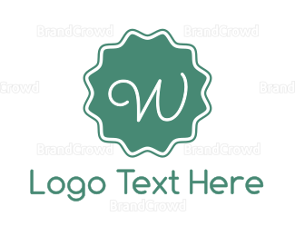 Cupcake - Purple W Stamp logo design