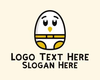 Baby - Baby Egg Chick logo design