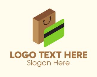 Card - Credit Card & Shopping Bag logo design