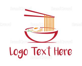 Bowl - Noodle Soup logo design