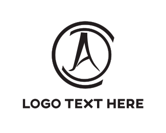 cursive black compass logo design