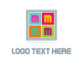 Lettermark - Colorful Letter M  logo design