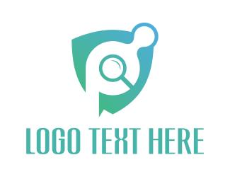 Letter P - Security Camera logo design