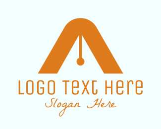 Essay - Orange A Pen logo design