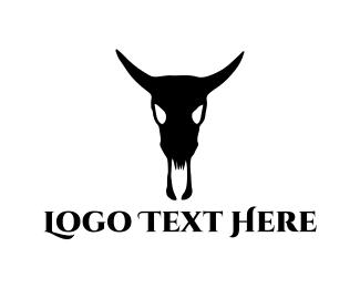 Bull Skull Logo
