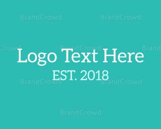 Typography - Fresh Serif Font logo design