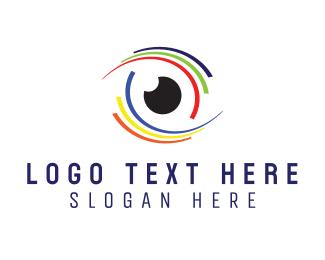 """Colorful Eye Stroke"" by LogoBrainstorm"