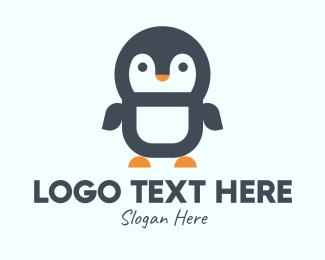 Penguin - Cute Penguin Mascot logo design