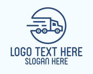 Driving - Fast Cargo Truck logo design