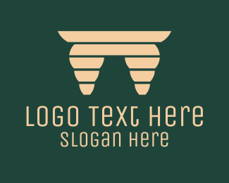 Deck - Wooden Table logo design
