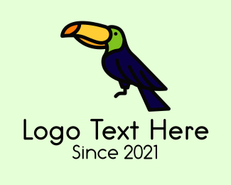 Animal - Perched Wild Toucan logo design