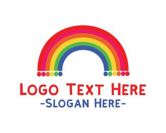 Rainbow  Dots Logo