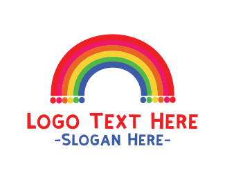 Fest - Rainbow  Dots logo design