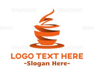 Cup - Ribbon Cup logo design