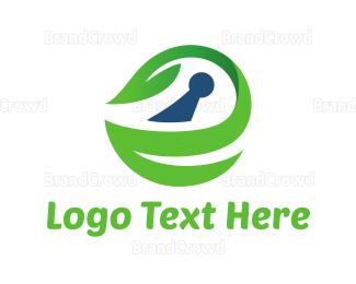 Blocks - Eco Keyhole logo design