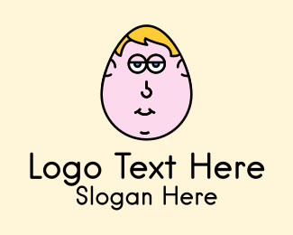 Cartoon - Egg Man Cartoon logo design