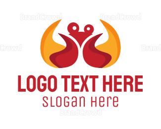 Fire - Fire Crab logo design