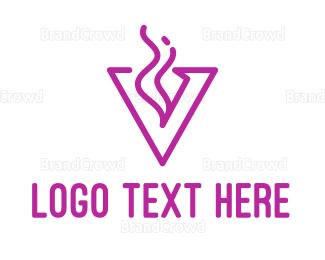 Activity - Pink V Smoke Outline logo design