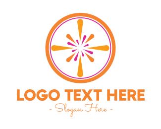 Orange Juice - Modern Orange Burst  logo design