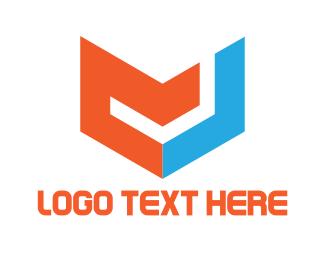 Initial - M & J logo design