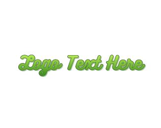 Twig - Curly Green Gradient logo design