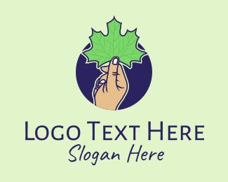 Maple - Maple Leaf Hand logo design