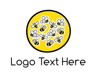Cartoonish - Honey Farm logo design