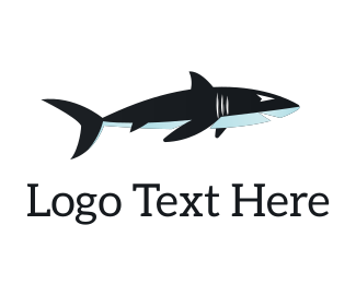 Shark - Dark Blue Shark logo design