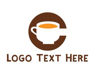 Hot Chocolate - Coffee Letter C logo design