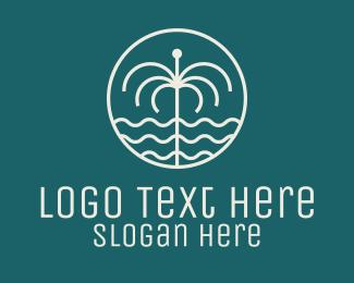Tropical - Tropical Water Fountain logo design