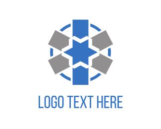 Blue And Gray - Blue Star logo design