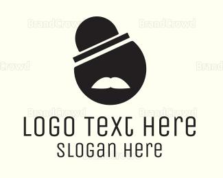 Moustache - Circle Sir logo design