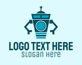 Machine - Washing Machine Robot logo design