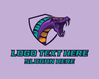 Team - Angry Snake Mascot logo design
