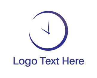 Timer - Blue Clock logo design