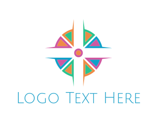 Bible - Colorful Cross logo design