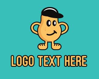 Potato - Smirk Potato Man logo design