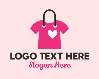Fashion - Pink Lovely Shirt logo design