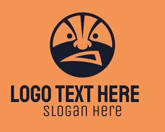 Basketball Player - Basketball Fan Face  logo design
